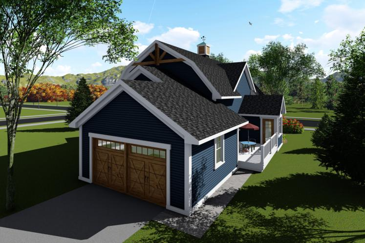 Cottage House Plan -  85628 - Rear Exterior