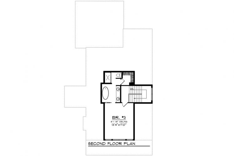 Country House Plan -  85628 - 2nd Floor Plan