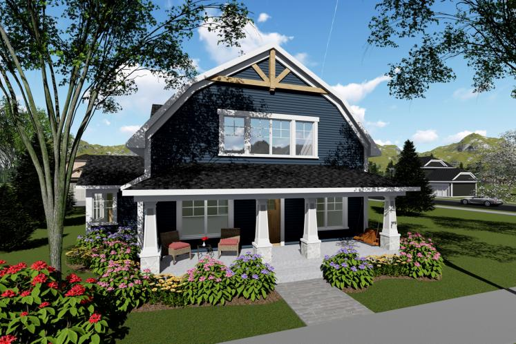 Country House Plan -  85628 - Front Exterior