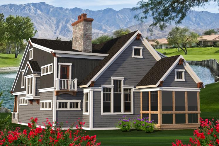 Traditional House Plan -  85647 - Rear Exterior