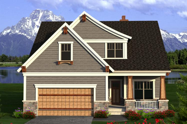 Craftsman House Plan -  85647 - Front Exterior