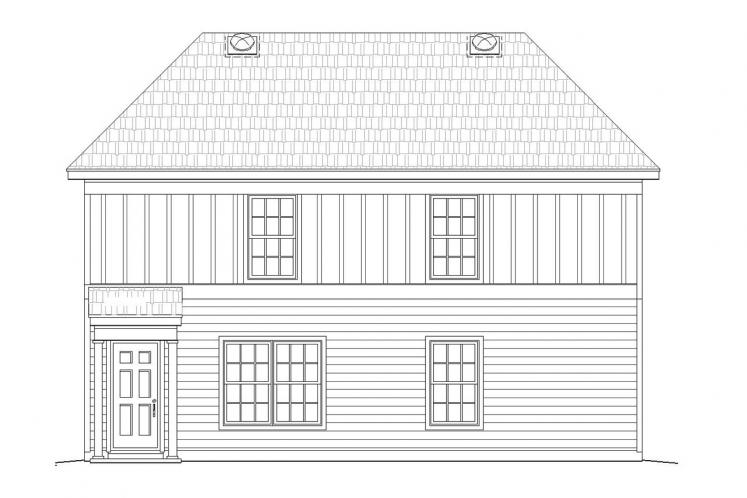 Traditional House Plan -  85655 - Rear Exterior