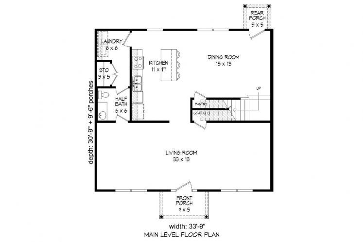 Colonial House Plan -  85655 - 1st Floor Plan