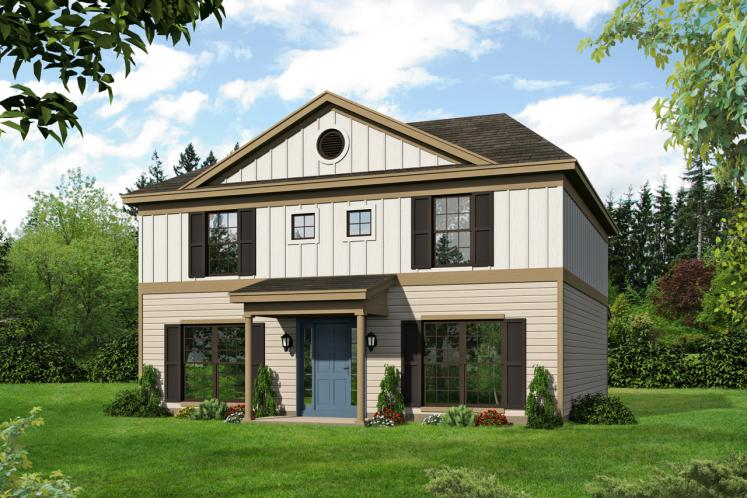 Colonial House Plan -  85655 - Front Exterior