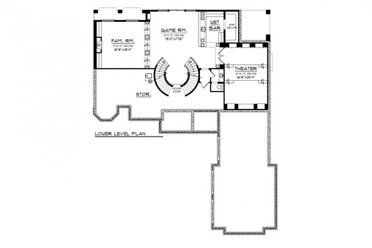 Tuscan House Plan -  85673 - Basement Floor Plan