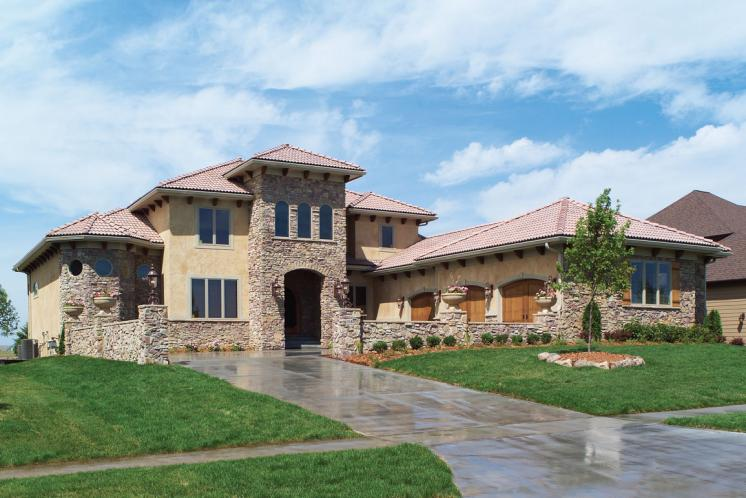 Tuscan House Plan -  85673 - Front Exterior