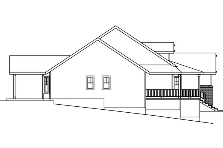 Traditional House Plan - Cumberland 85690 - Left Exterior