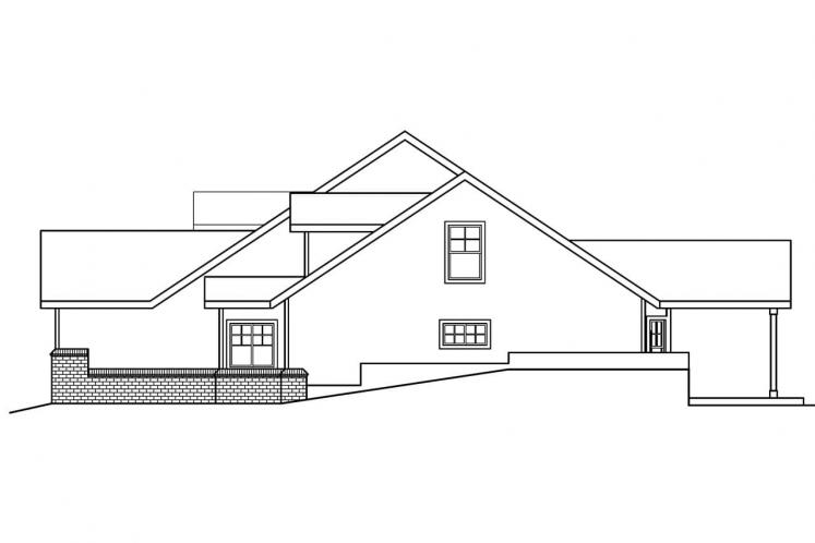 Country House Plan - Cumberland 85690 - Right Exterior