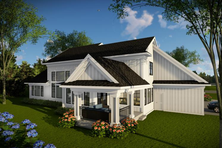 Country House Plan -  85703 - Rear Exterior