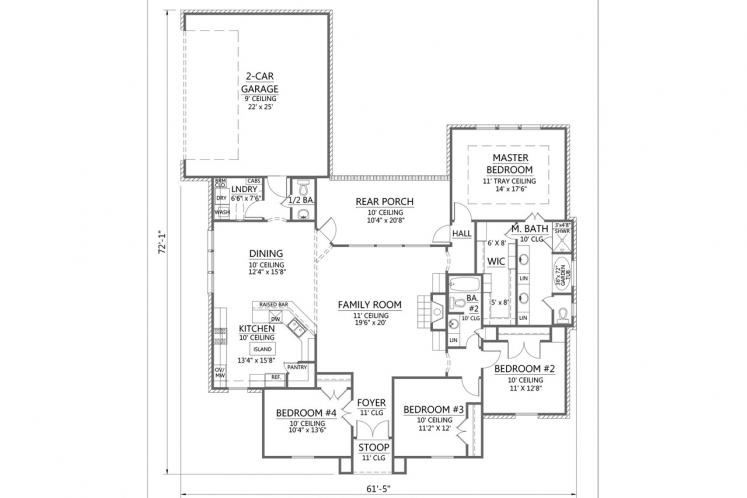 Classic House Plan - Briarwood 85736 - 1st Floor Plan