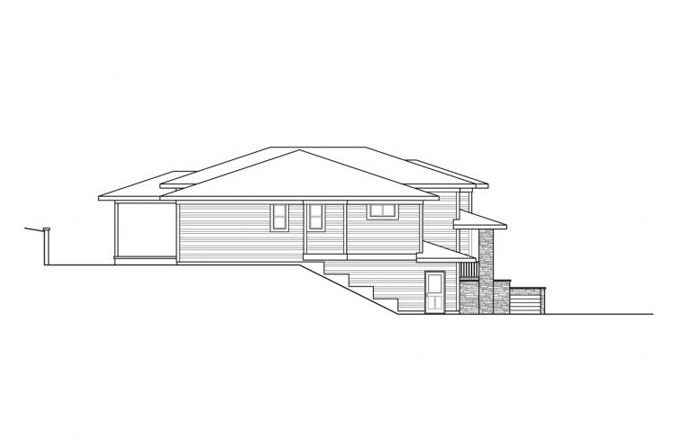 Prairie House Plan - Alpenglow 85756 - Left Exterior