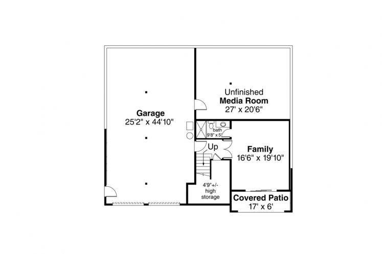 Contemporary House Plan - Alpenglow 85756 - Basement Floor Plan