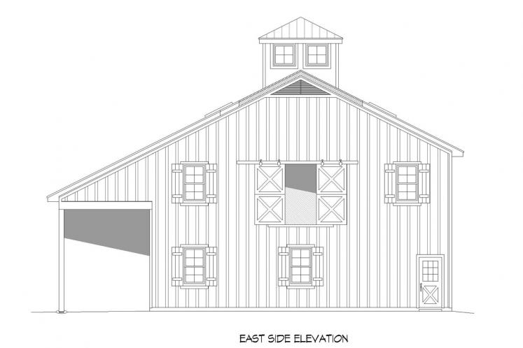 Traditional  - Crooked Barn 85774 - Front Exterior