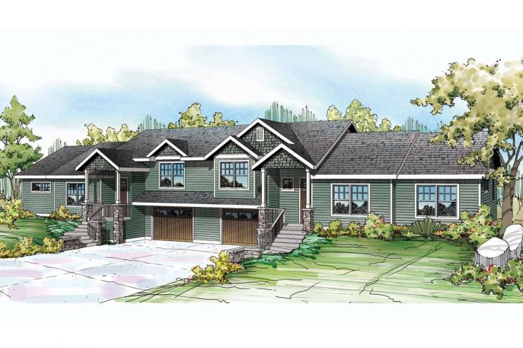 Contemporary Multi-family Plan - Vancouver 85847 - Front Exterior