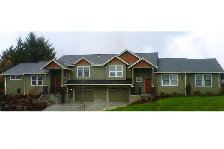 Craftsman Multi-family Plan - Vancouver 85847 - Front Exterior