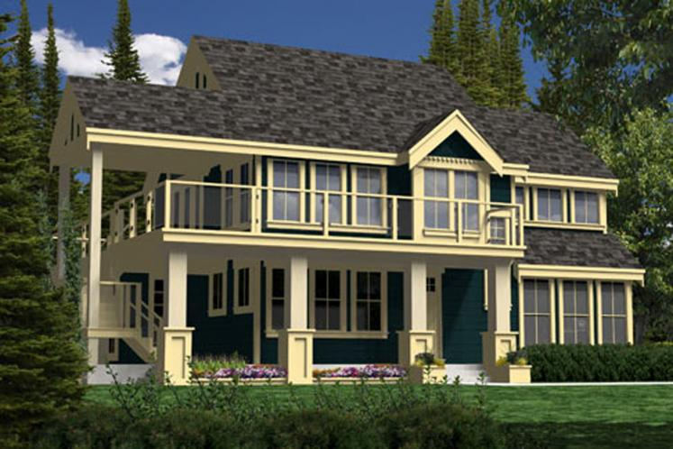 Craftsman House Plan - Seacalm 85854 - Front Exterior