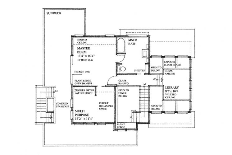 Craftsman House Plan - Seacalm 85854 - 2nd Floor Plan