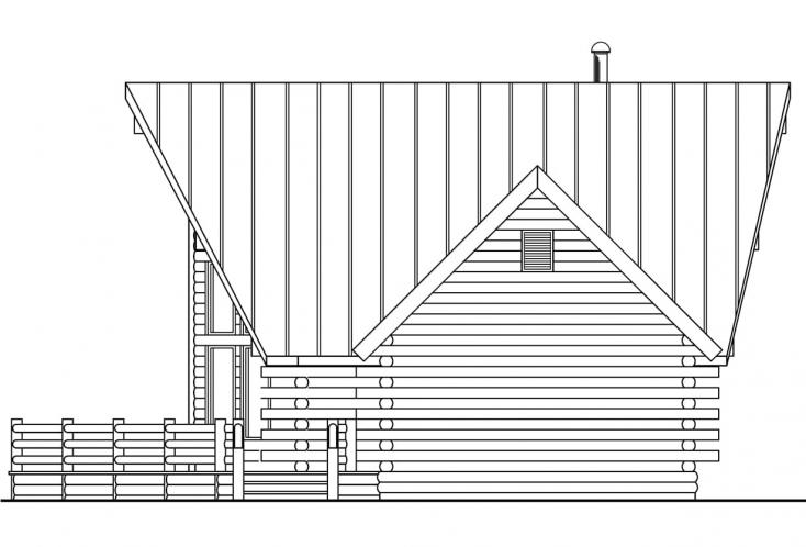 A-Frame House Plan - Altamont 85873 - Right Exterior
