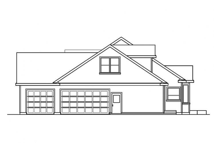 Ranch House Plan - Maxwell 85996 - Right Exterior