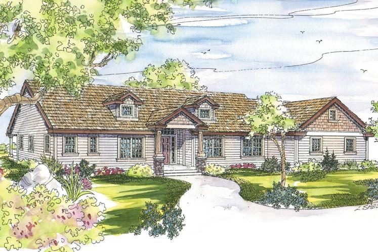 Ranch House Plan - Maxwell 85996 - Front Exterior