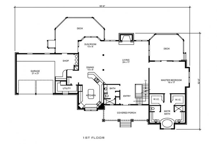 Country House Plan - Harper 86030 - 1st Floor Plan