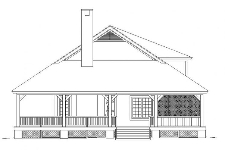 Country House Plan -  86088 - Right Exterior