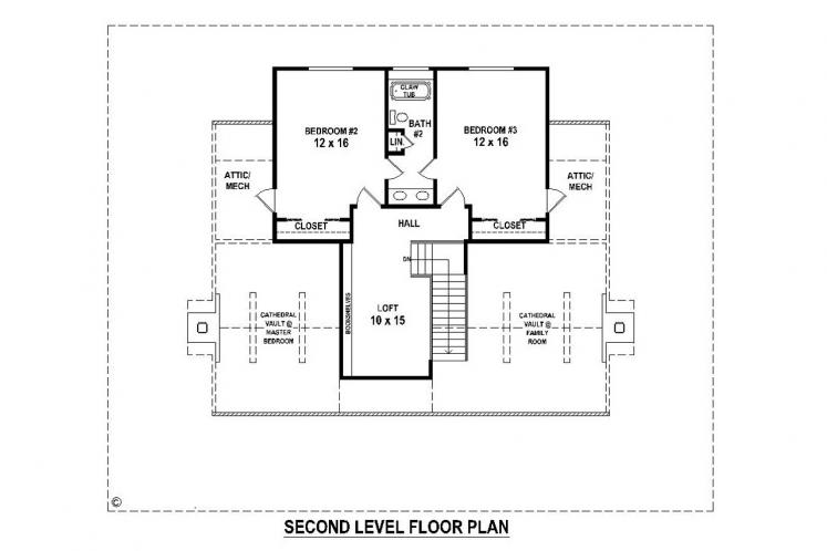 Lodge Style House Plan -  86088 - 2nd Floor Plan