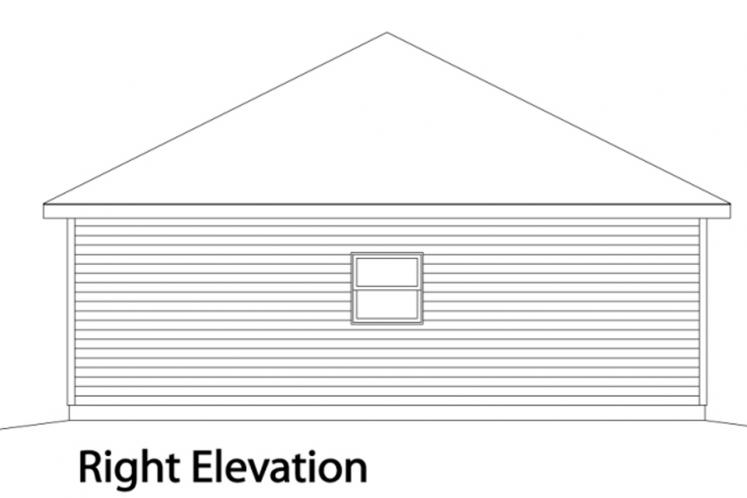 Traditional Garage Plan -  86166 - Right Exterior