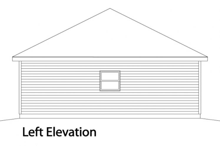 Prairie Garage Plan -  86166 - Left Exterior