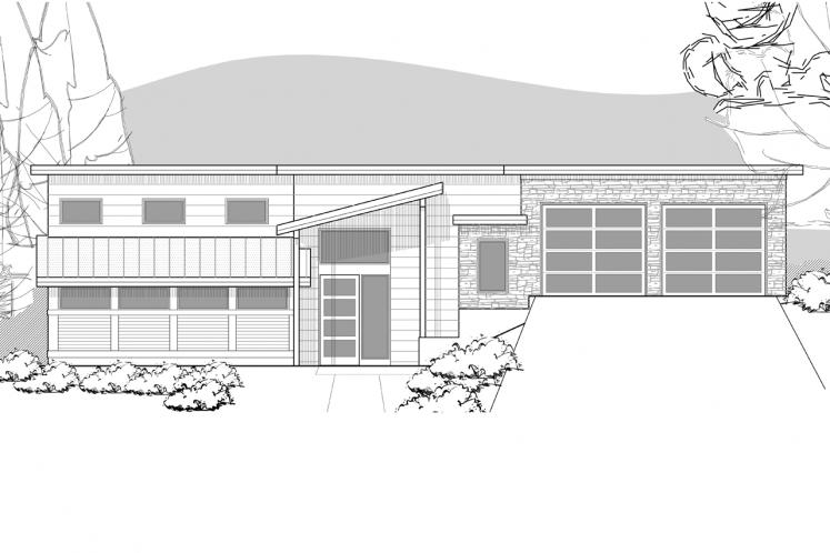 Contemporary House Plan -  86187 - Front Exterior