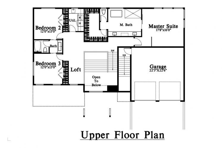 Contemporary House Plan -  86187 - 2nd Floor Plan