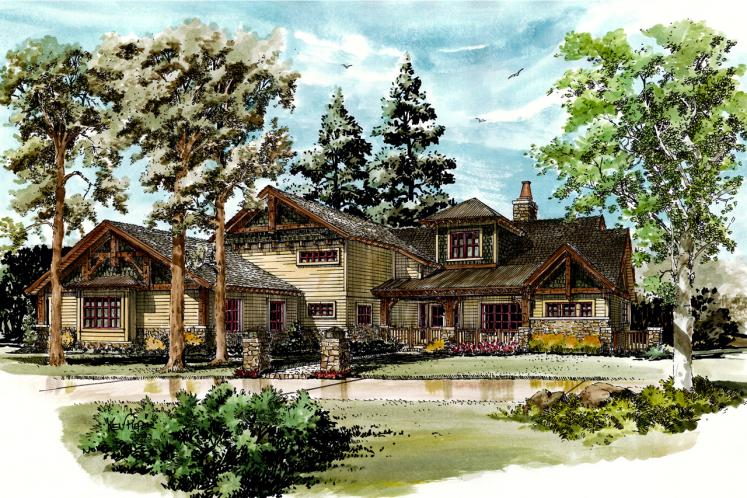 Traditional House Plan - Waterton 86200 - Front Exterior