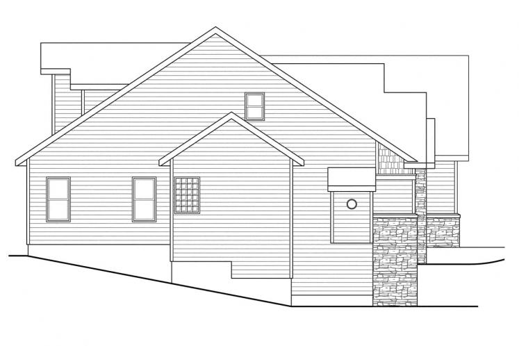 Traditional House Plan - Lakeside 86310 - Left Exterior