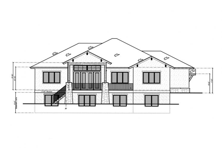 Ranch House Plan - Aspen Grove 86311 - Rear Exterior