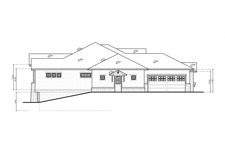 Ranch House Plan - Aspen Grove 86311 - Left Exterior