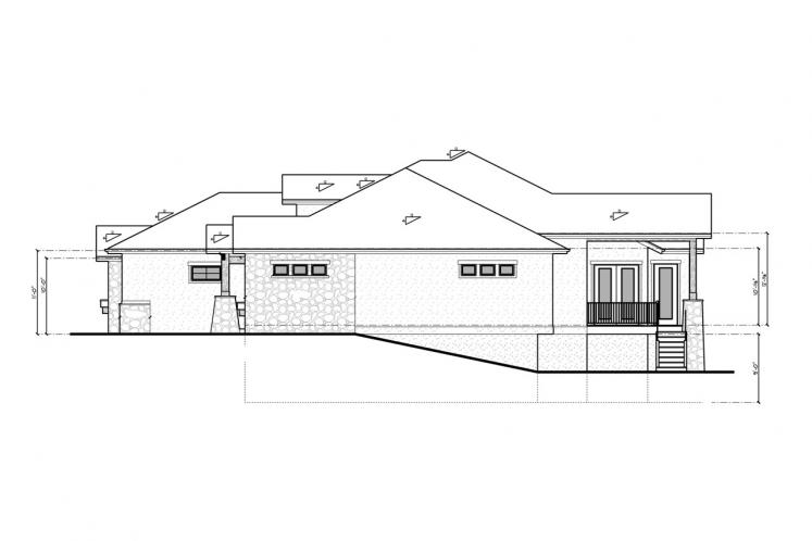 Craftsman House Plan - Aspen Grove 86311 - Right Exterior