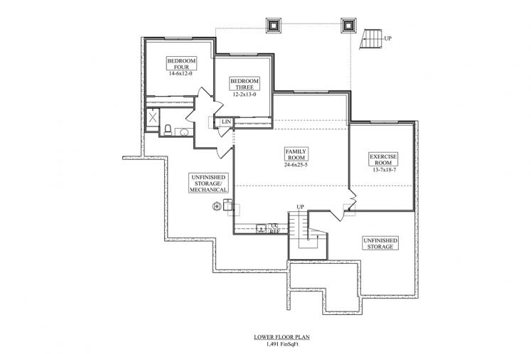 Craftsman House Plan - Aspen Grove 86311 - Basement Floor Plan