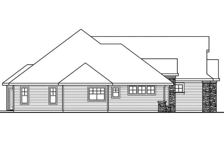 Country House Plan - Saddlebrook 86585 - Left Exterior