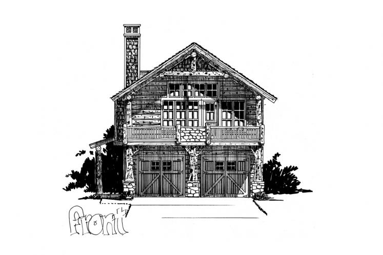 Lodge Style Garage Plan - Bighorn 86634 - Front Exterior