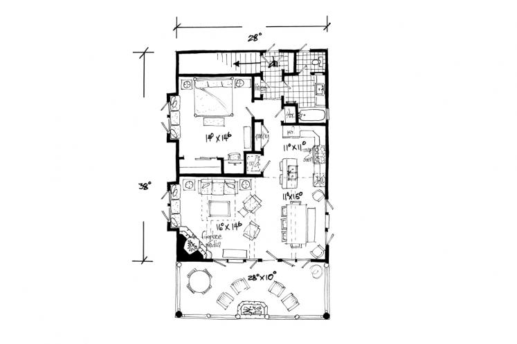 Traditional Garage Plan - Bighorn 86634 - 1st Floor Plan