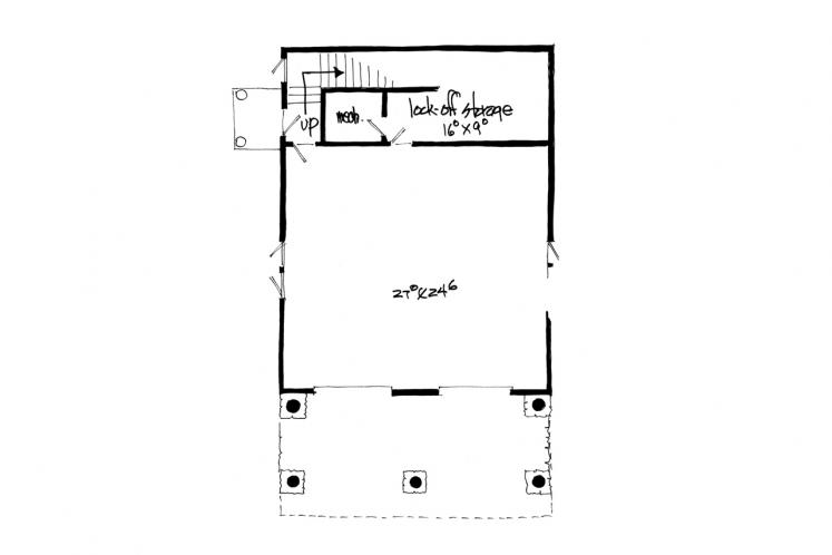 Cottage Garage Plan - Bighorn 86634 - Basement Floor Plan