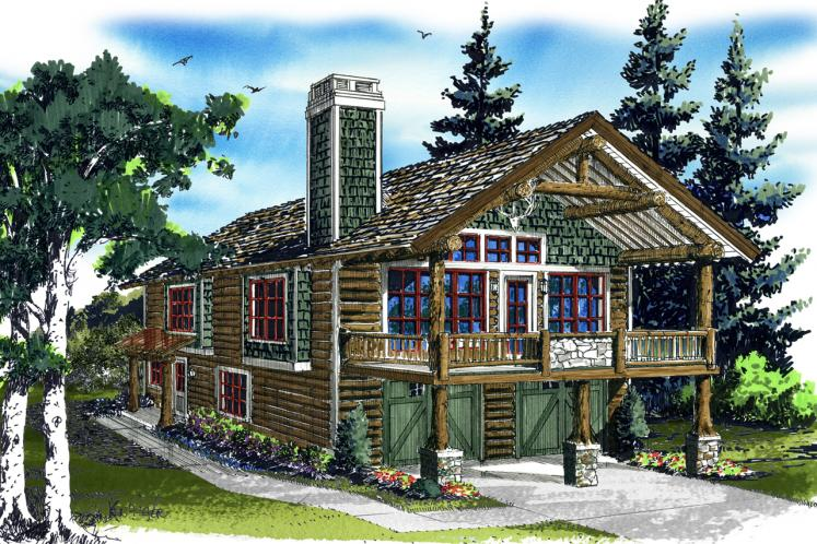 Cottage Garage Plan - Bighorn 86634 - Front Exterior