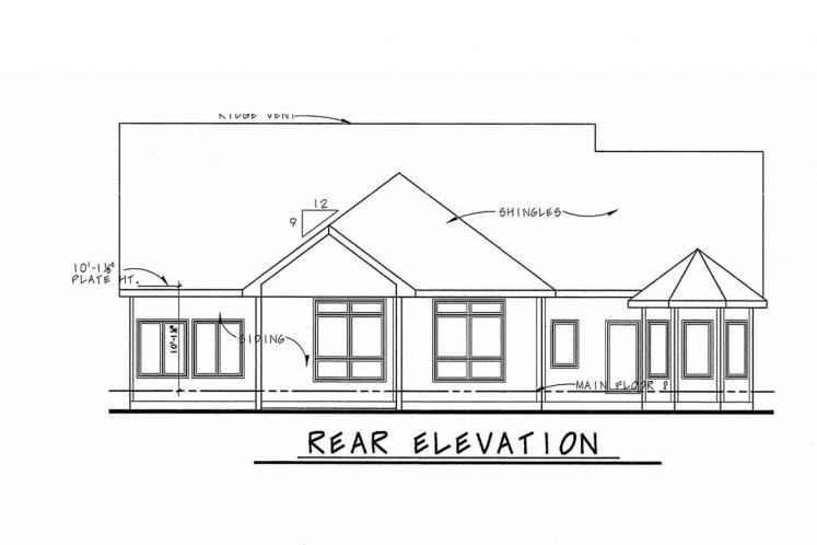 Country House Plan - Slater 86691 - Rear Exterior