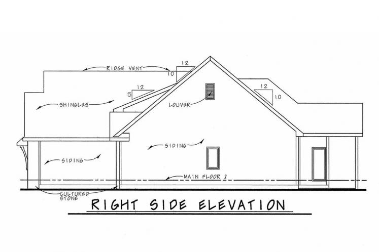 Country House Plan - Slater 86691 - Right Exterior