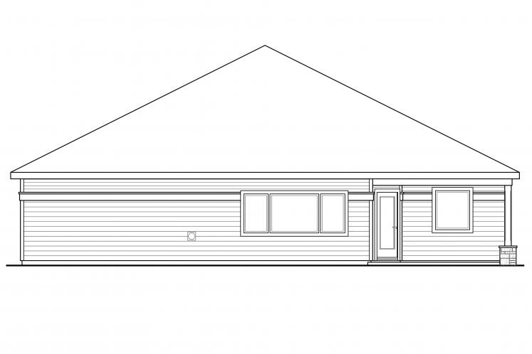Prairie House Plan - Westfall 86694 - Rear Exterior