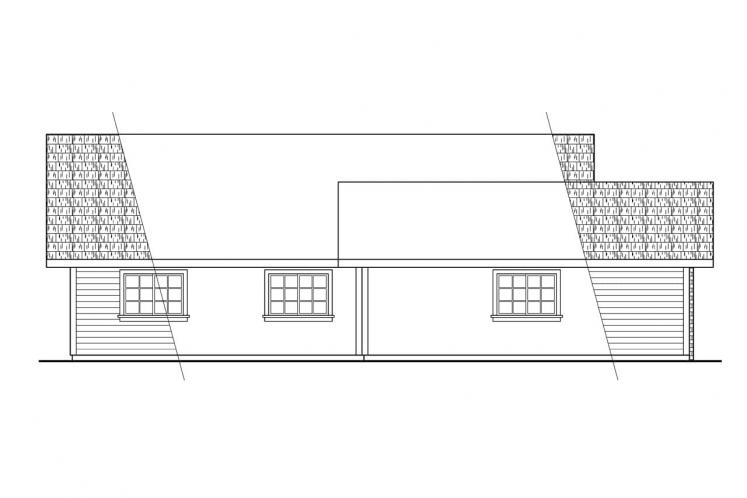 Ranch House Plan - Harney 86740 - Left Exterior