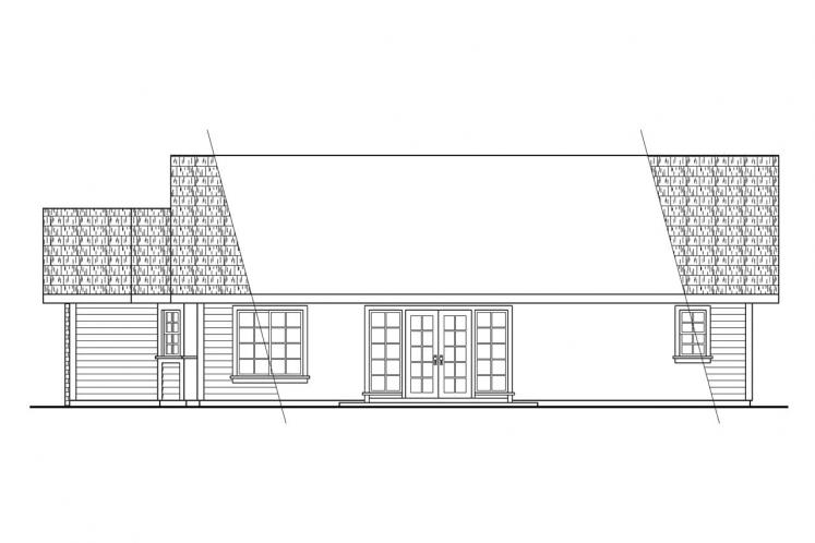 Traditional House Plan - Harney 86740 - Right Exterior