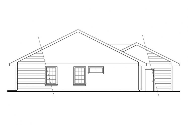 Cottage House Plan - Harney 86740 - Rear Exterior
