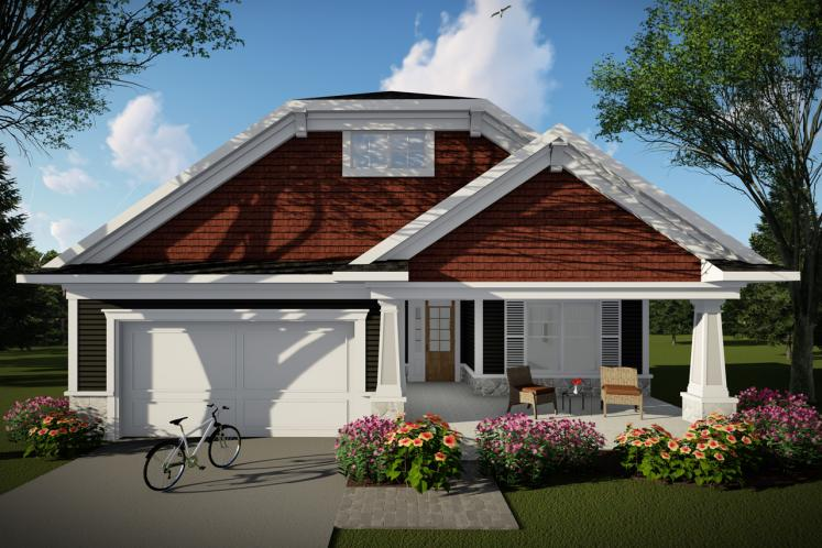 Ranch House Plan -  86811 - Front Exterior