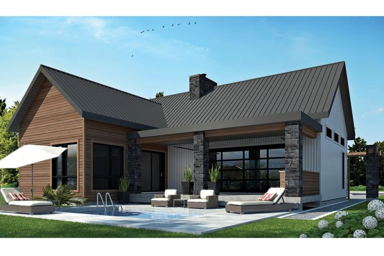 Cottage House Plan - Olympe 86940 - Rear Exterior